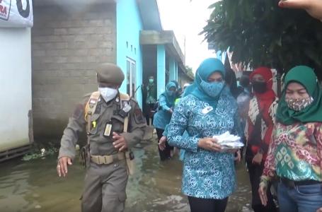 TP PKK Prov. Kalsel danTP PKK Banjar Salurkan Bantuan Warga Terdampak Banjir