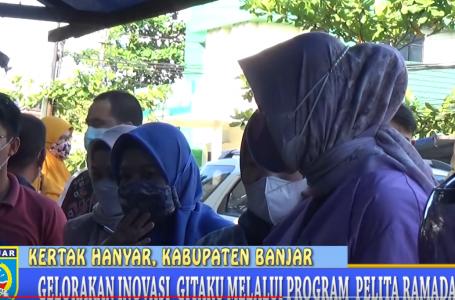 Kegiatan PELITA Ramadan Ketua TP PKK Kab. Banjar Temui Pedagang di Kertak Hanyar I